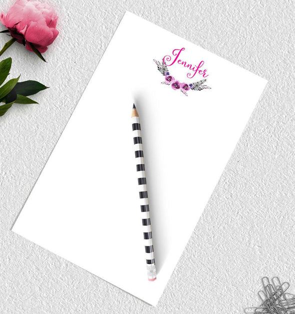 Personalized bohemian style notepad.