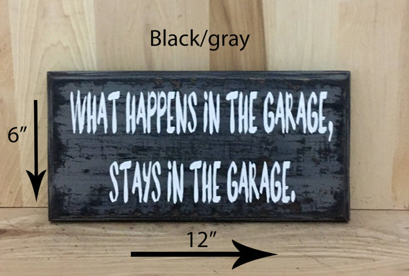 6x12 black/gray wood sign for garage or man cave