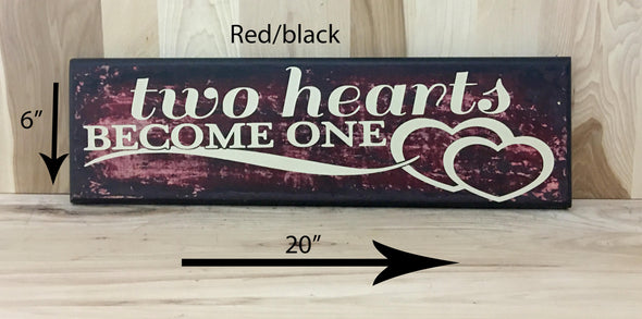 20x6 red/black wedding sign with cream lettering
