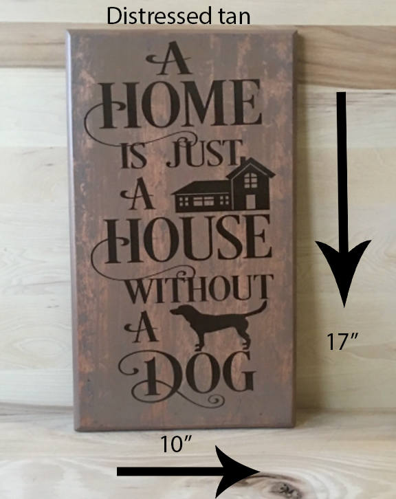 10x17 distressed wood sign for dog lover