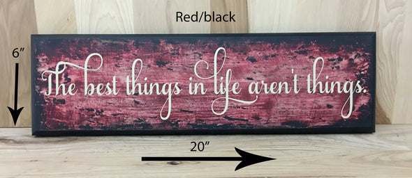 20x6 red/black custom wooden sign for home decor