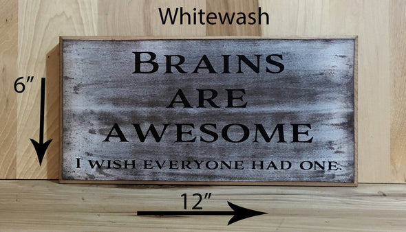 6x12 whitewash funny wood sign with black lettering
