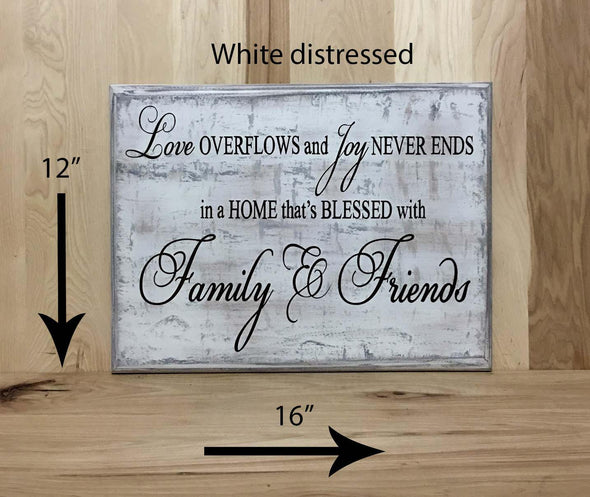 12x16 white distress gray family wood sign