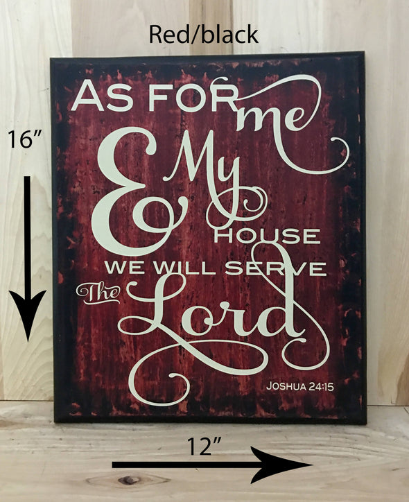 12x16 red/black christian inspired wood sign for home decor