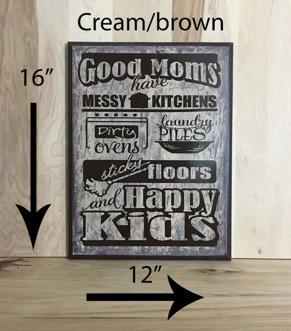 16x12 cream/brown sign for mothers with brown lettering