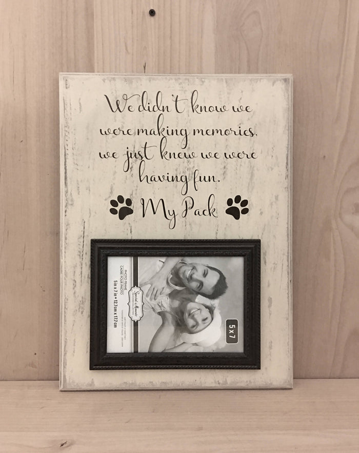 Personalized Dog Sign, Making Memories Wood Sign, Picture Frame ...