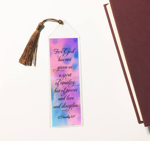 2 Timothy bookmark with tassle