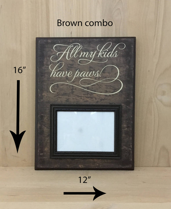 12x16 brown combo pet sign with cream lettering