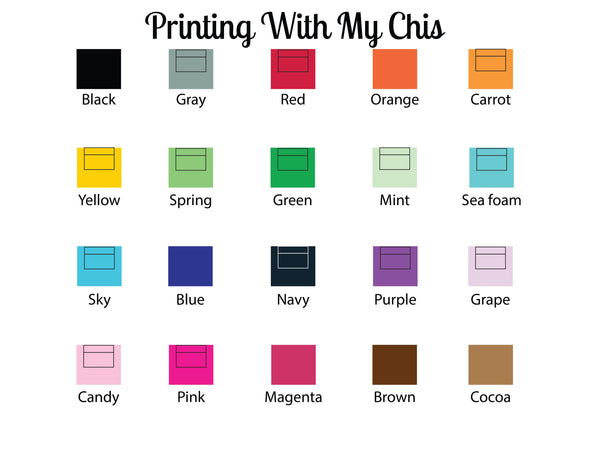 Color choices for ink and envelopes.