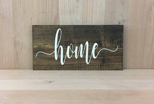 Calligraphy home wood sign for housewarming gift.