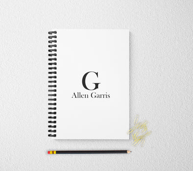 Personalized notebook monogram