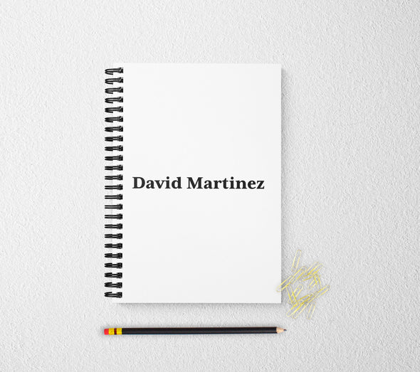 Personalized notebook journal blank page