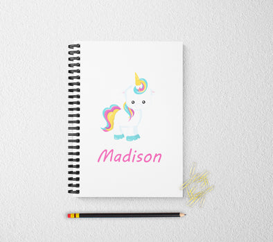 Unicorn personalized notebook cute