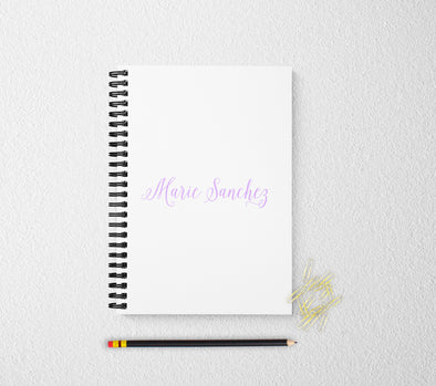 Script personalized notebook journal for women