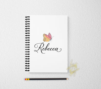 Butterfly personalized notebook