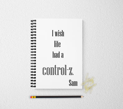 Control z personalized notebook funny personalized custom journal