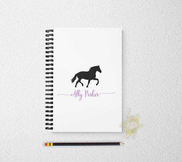 Horse personalized notebook journal