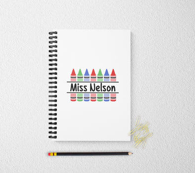 Personalized notebook teachers