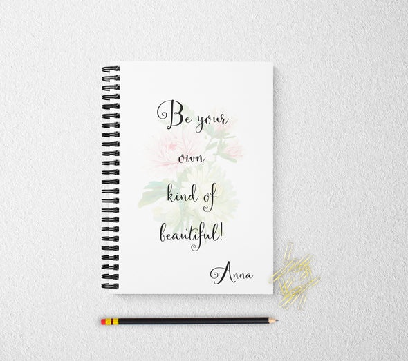 Floral personalized notebook inspirational