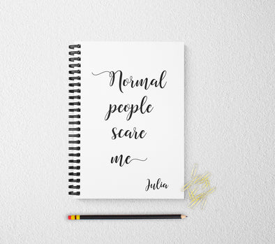 Funny journal personalized notebook funny personalized custom journal personalized journal gift