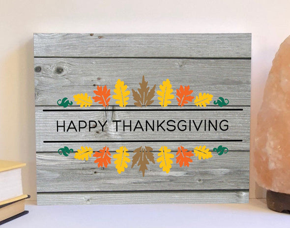 Happy Thanksgiving wood sign