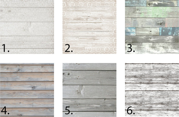 six color choices for modern wood signs