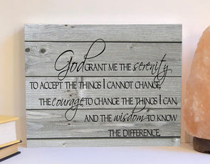 Serenity prayer wood sign
