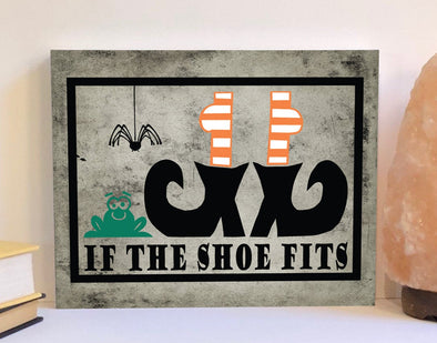 If the shoe fits Halloween decor