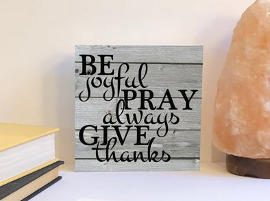 Always give thanks wood sign