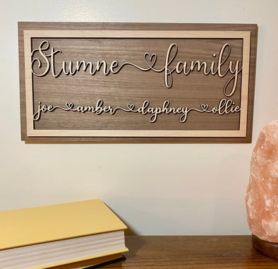Personalized family wood sign home decor, personalized wooden sign, customized family wood sign, home wall art