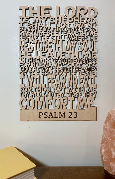 Psalm 23 wood sign home decor, religious home wood sign, the lord is my shepherd wooden sign, religious wooden sign