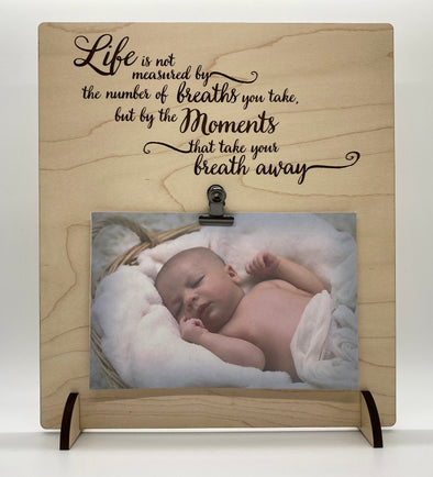 Life is not measured by the breaths you take wood sign home decor, baby shower gift, family wood sign, home wall art
