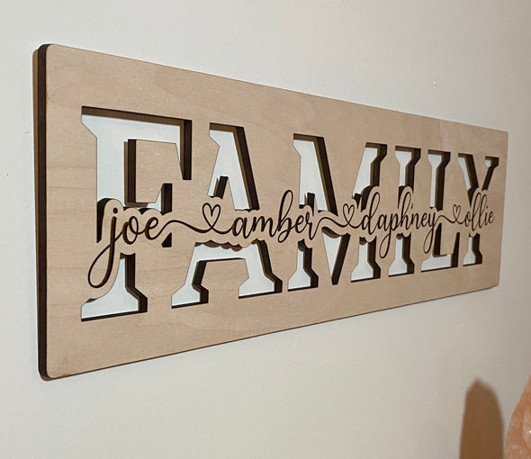 Personalized family wood sign home decor, custom wooden sign, personalized wooden sign, customized family wood sign