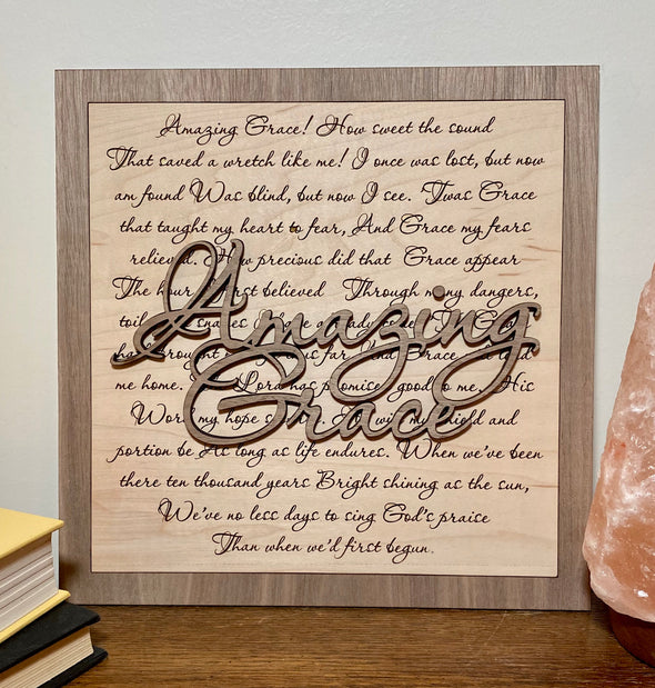 Amazing grace wood sign home decor, religious home wood sign, home wooden sign, wooden sign