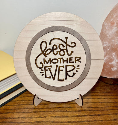 Best mother ever wood sign home decor, gift for mothers day, mothers day gift, gift for mom