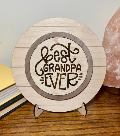 Best grandpa ever wood sign home decor, gift for fathers day, fathers day gift, gift for grandpa