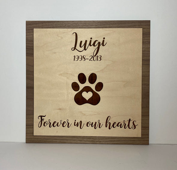 Personalized sign, pet sympathy gift, pet memorial frame, pet sign