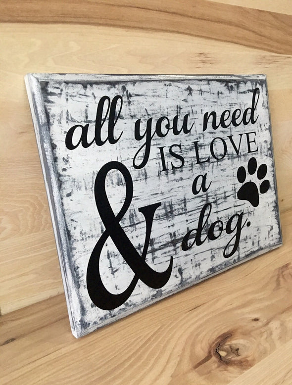 Gift for dog lover custom wood sign.
