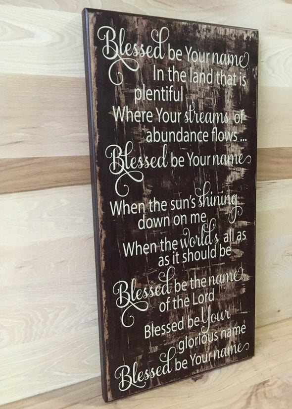 Religious wood sign for home decor