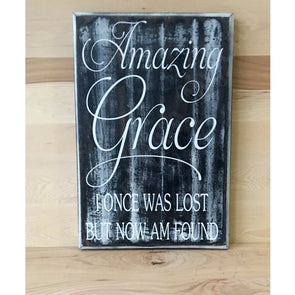 Amazing Grace custom wood sign