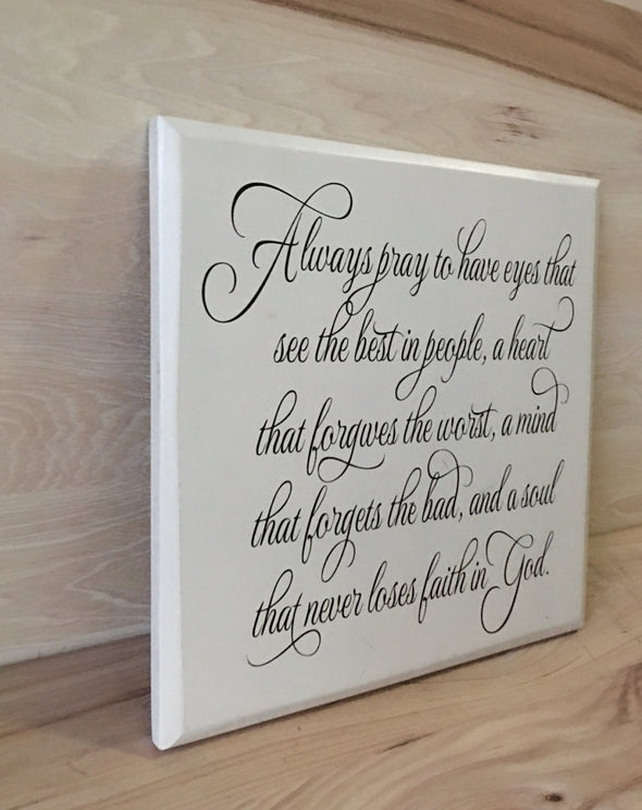 Christian wooden wall art sign makes a great gift.