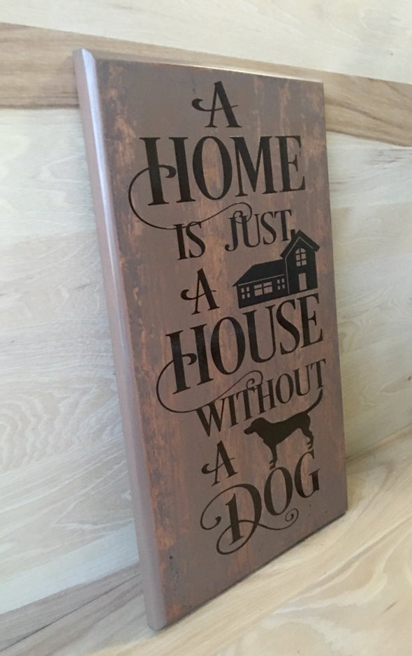 Wood sign for dog home
