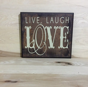 Live laugh love wood sign, new home gift, uplifting sign, home decor wall art