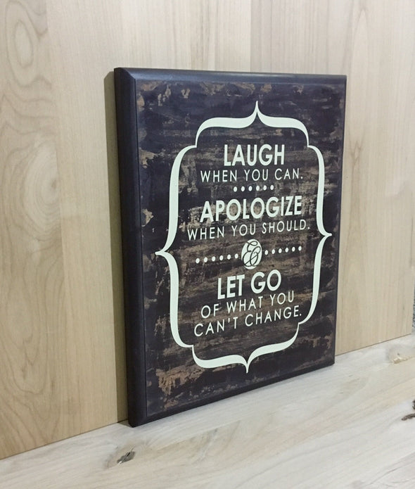 10 x13 inspirational wooden sign for home or office decor.