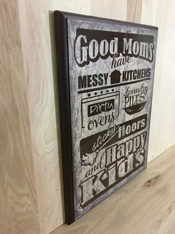 Custom wooden sign makes great mother's day gift.