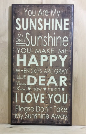 You are my sunshine wall art wood sign