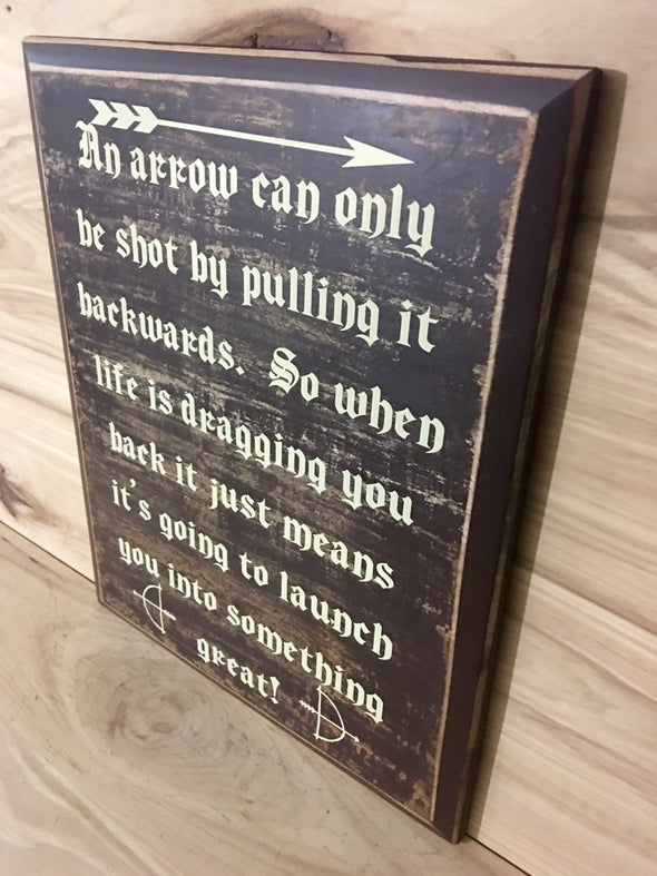 Inspirational wood sign for the home or office.