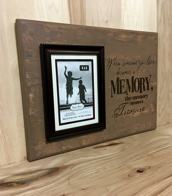 12x16 distressed tan memorial wood sign with brown lettering