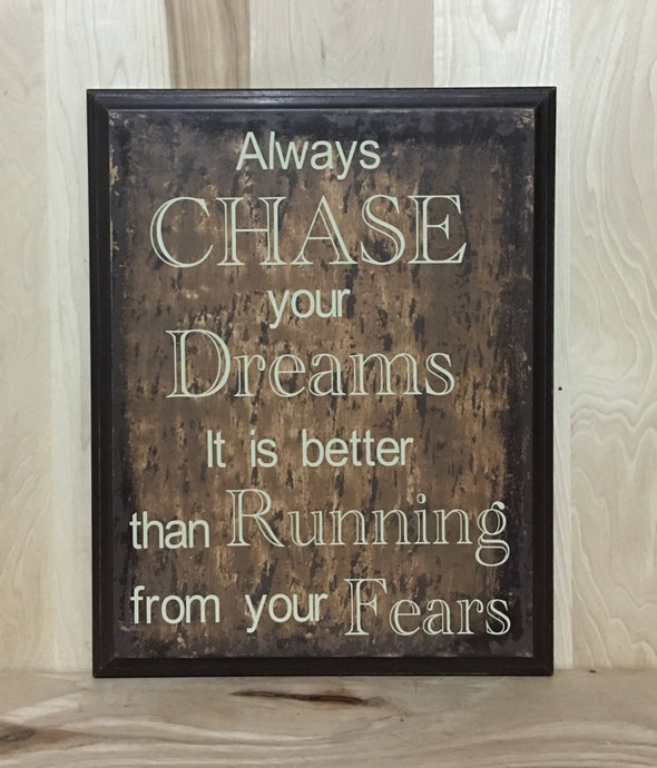 Dreams custom sign, motivational wood sign