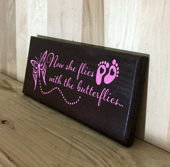 Wooden memorial sign for girls.